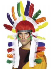 Wild West Indian Long Headdress